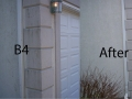 stucco before and after-Exterior building cleaning